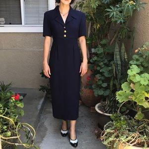 New vintage navy blue Liz Claiborne dress